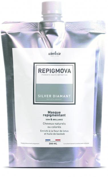 REPIGMOVA - Silver Diamant (reflets argent) - 200ml